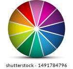 an abstract colour wheel image | Shutterstock .eps vector #1491784796
