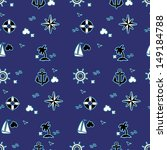 seamless pattern with sailing... | Shutterstock .eps vector #149184788