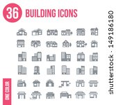 36 building icons set   one... | Shutterstock .eps vector #149186180