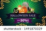 halloween sale  up to 30  off ... | Shutterstock .eps vector #1491870329