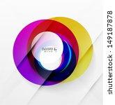 modern colorful abstract circles