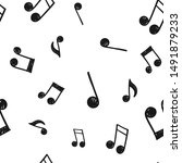 music note doodle icons pattern.... | Shutterstock .eps vector #1491879233