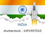 illustration of chandrayaan... | Shutterstock .eps vector #1491907010
