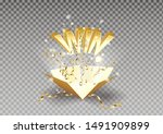 win text explosion on box and... | Shutterstock .eps vector #1491909899