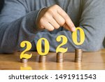 2020 new year saving money and... | Shutterstock . vector #1491911543