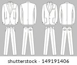 two options of business suits... | Shutterstock .eps vector #149191406