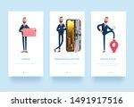 3d illustration set. cartoon... | Shutterstock . vector #1491917516