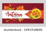 autumn sale background layout... | Shutterstock .eps vector #1491918830