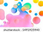 abstract colorful 3d art... | Shutterstock . vector #1491925940