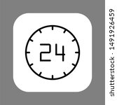 clock line icon isolated on...
