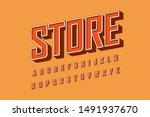 modern 3d bold font and... | Shutterstock .eps vector #1491937670