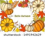 thanksgiving design template....   Shutterstock .eps vector #1491942629
