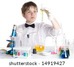 the boy with a microscope and... | Shutterstock . vector #14919427