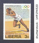 liberia   circa 1984  a postage ... | Shutterstock . vector #149194520