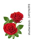 Stock photo red roses isolated on white 149196593
