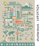 ecology info graphic background ... | Shutterstock .eps vector #149197424