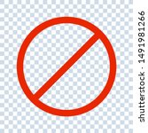 no sign isolated. red no symbol.... | Shutterstock .eps vector #1491981266