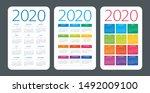 calendar set 2020 year   vector ...   Shutterstock .eps vector #1492009100