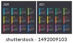 2020 2021 calendar  ... | Shutterstock .eps vector #1492009103