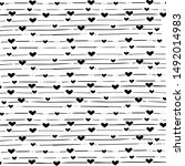 heart and stripes hand drawn by ... | Shutterstock .eps vector #1492014983