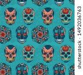 pattern illustration sugar old... | Shutterstock . vector #1492036763