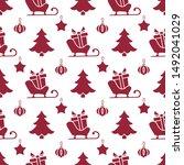 happy new year 2020  merry... | Shutterstock .eps vector #1492041029