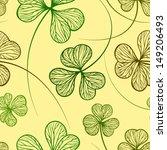 seamless grunge stylized clover ... | Shutterstock .eps vector #149206493