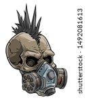 cartoon detailed realistic... | Shutterstock .eps vector #1492081613