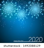 2020 new year and merry... | Shutterstock .eps vector #1492088129