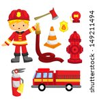 alarm,art,axe,badge,car,cartoon,collection,color,cones,department,emergency,engine,equipment,fire,fire e