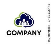 logo design template for... | Shutterstock .eps vector #1492116443