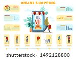 online shopping people... | Shutterstock .eps vector #1492128800