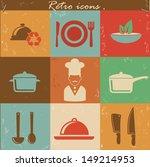 food retro icons vector | Shutterstock .eps vector #149214953