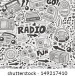seamless doodle radio pattern | Shutterstock .eps vector #149217410