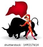 Bull Fighting Clip Art