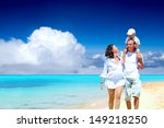 view of happy young family... | Shutterstock . vector #149218250
