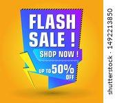 flash sale design for business. ...   Shutterstock .eps vector #1492213850