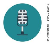 microphone icon concept with...   Shutterstock .eps vector #1492216043