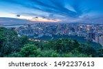 Nanshan District Shenzhen Guangdong China overlooking the night view of Nanshan City