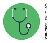 stethoscope icon concept with...   Shutterstock .eps vector #1492243526