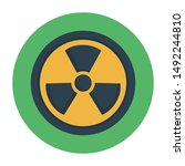 radioactive icon concept with...   Shutterstock .eps vector #1492244810