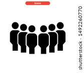 population icon isolated sign... | Shutterstock .eps vector #1492260770