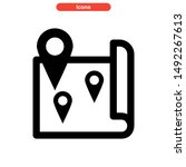 location icon isolated sign...