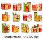 set of canned vegetables... | Shutterstock . vector #149227409