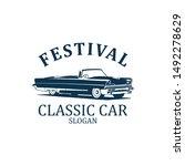 festival classic car logo 3... | Shutterstock .eps vector #1492278629