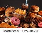 Unhealthy Products. Food Bad...