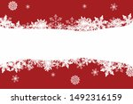 chrismas winter background with ... | Shutterstock .eps vector #1492316159