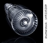 Jet Engine Inside Isolated On...