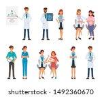doctor character for treatment...   Shutterstock .eps vector #1492360670