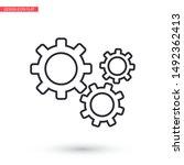 setting icon vector . lorem... | Shutterstock .eps vector #1492362413